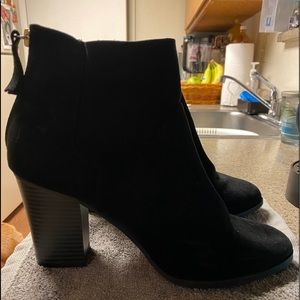 Cute black booties
